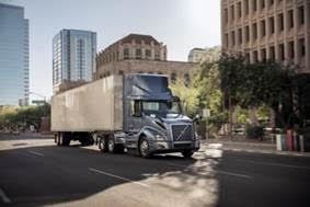 "The new Volvo VNL 300 tractor is now available for the U.S. and Canada with a natural gas-powered Cummins ISX12N ""Near Zero"" engine."